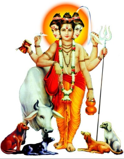 Hindu God dattatreya image