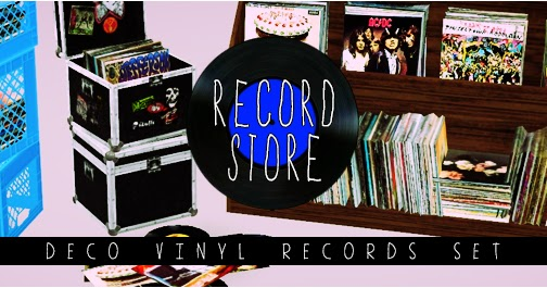 My Sims 3 Blog Record Store Deco Vinyl Records Set By