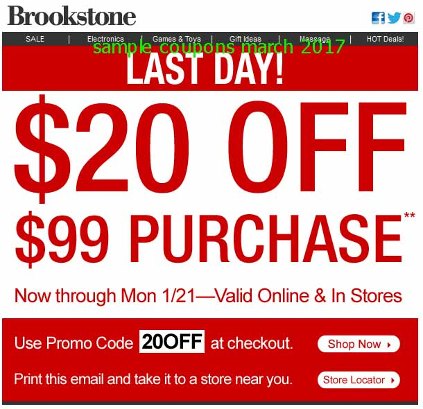 Brookstone discount coupon