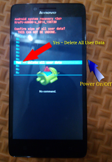 Cara Hard Reset Android Lenovo a6000