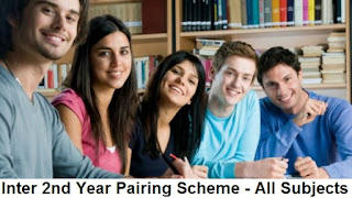 12th Class Maths Pairing Scheme 2019 - Inter FSc/ICS 2nd Year Combination Assessment