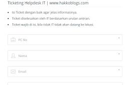 Aplikasi helpdesk IT dengan PHP, MariaDB, Material dan PHPmailer (Free)