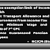 Enhance Income Tax exemption limit to Four Lakh, exempt Transport Allowance and Medical Reimbursement from Income Tax - NCJCM