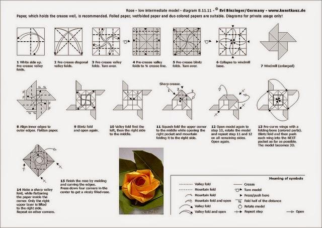 Origami Flower Origami Lotus Origami Diagram Stock Illustration ... | 453x640