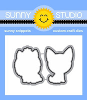 Sunny Studio Stamps: Introducing Pup Dog Kisses Coordinating Metal Cutting Dies