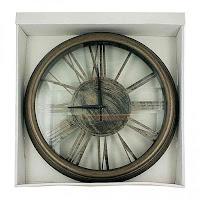 Bronze Roman Numeral Wall Clock
