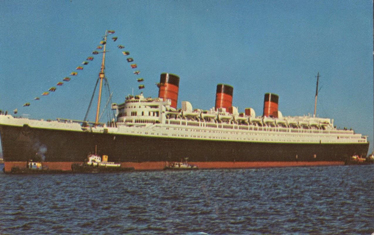 Posewe Maritime Bilder Queen Mary 1936