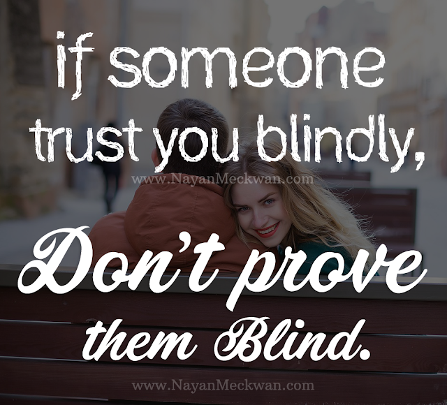 Heart touching quote about Trust - Picture saying