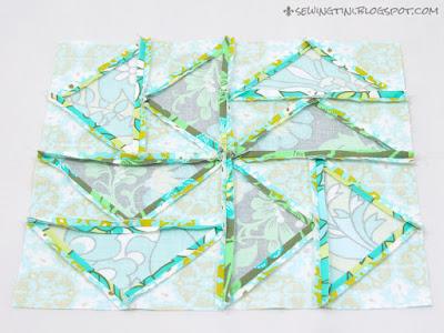 mein Dutchman's Puzzle für den 6 Köpfe - 12 Blöcke Quilt Along