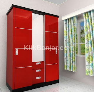 jual lemari pakaian minimalis kayu jati di banjarmasin