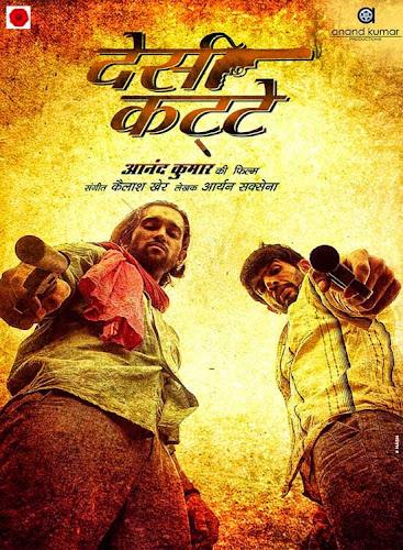 Poster of Desi Kattey (2014) Hindi WeBHD 130MB ESubs –x265 HEVC Mobile Movie Download