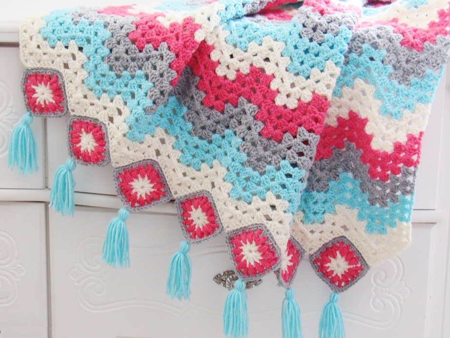 How To Crochet A Ripple Afghan Free Crochet Pattern Sun Room