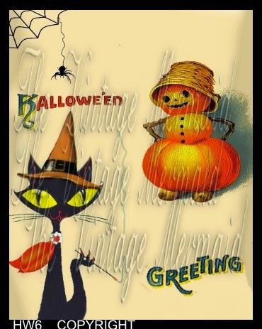 bad kitty smoking pumpkin girl halloween fabric