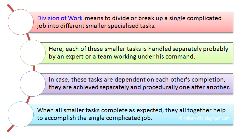meaning of division of work