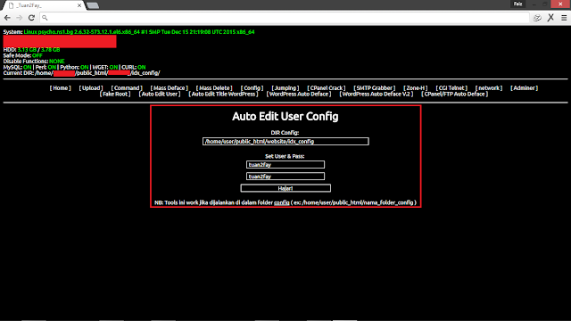 Deface Website Hasil Grab Config Menggunakan Shell Backdoor
