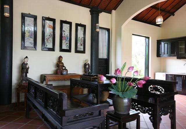Trường kỷ gỗ đẹp trong vườn sinh thái Điền Viên