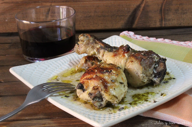 Pollo estilo griego. Julia y sus recetas