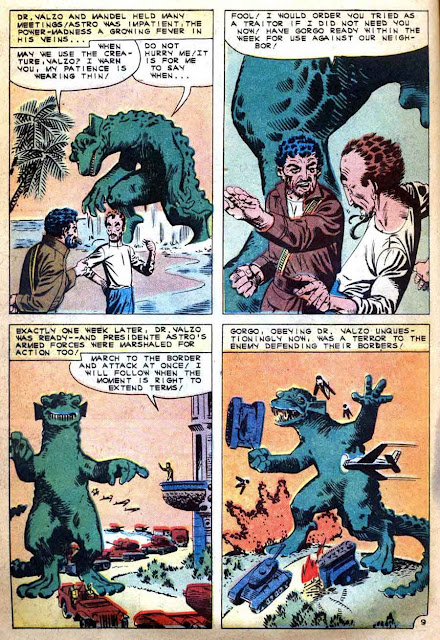 Gorgo v1 #3 charlton monster comic book page art by Steve Ditko