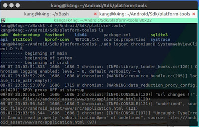 Adb tools untuk debug saat develop aplikasi android hybrid