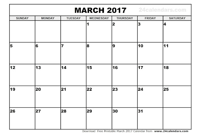 March 2017 Calendar, 2017 Calendar. Calendar 2017, Monthly Calendar 2017