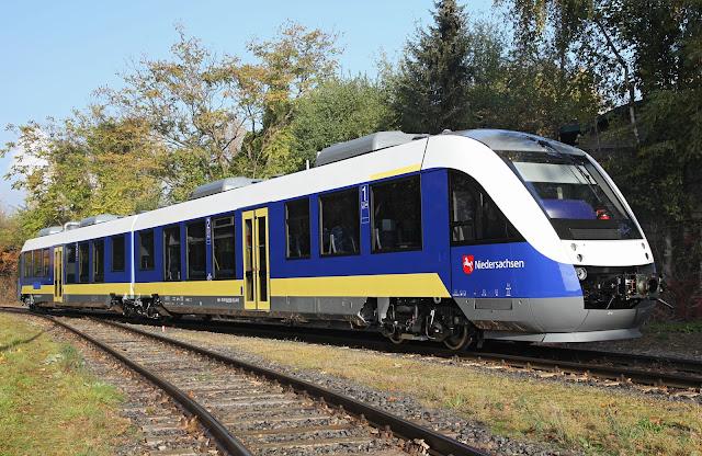 Một toa tàu Coradia iLint của hãng Alstom (Pháp) sử dụng năng lượng hydro để di chuyển. Credit: Alstom.