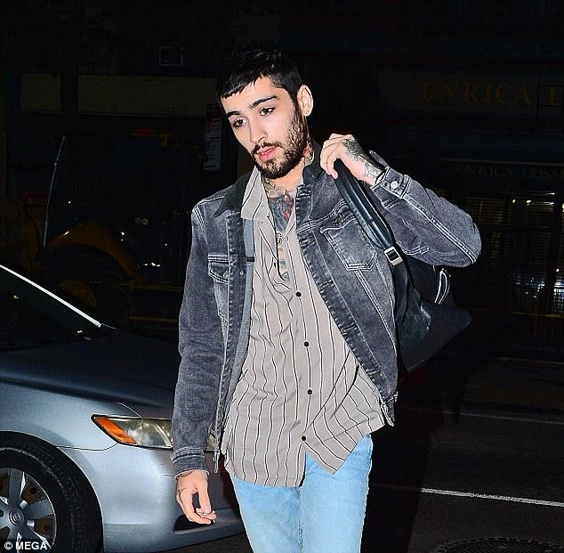 Zayn Malik look dapper as he leaves Gigi's NYC apartment following their baking session.