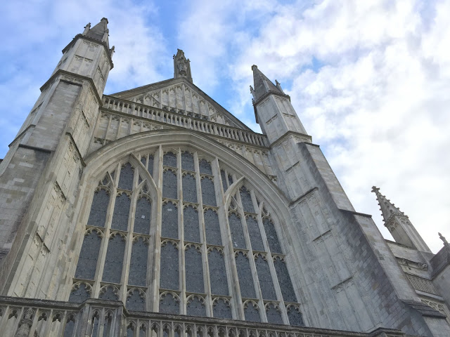 Gothic architecture of Winchester Cathedral