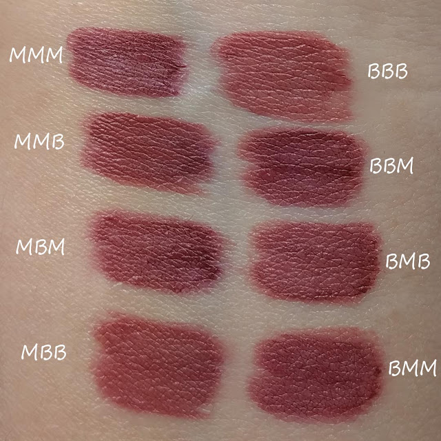 lipstick layered for different colors