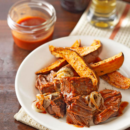 40 Fall Slow Cooker Recipes: Brisket In Onion-Ale BBQ Sauce