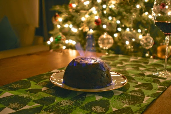 Flaming Christmas Pudding
