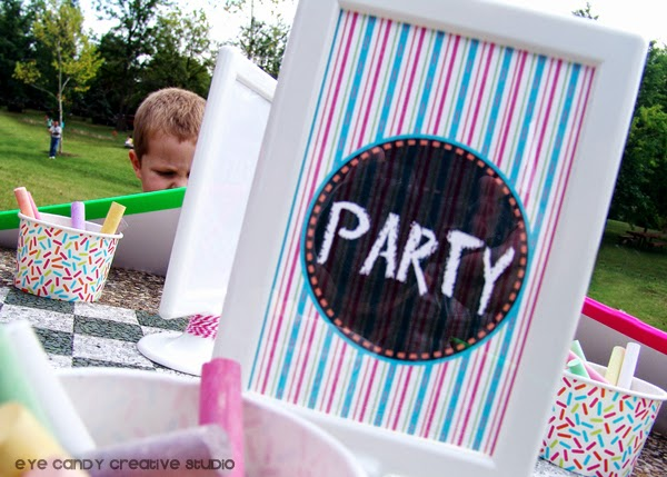 how to make chalkboards, party, art party picnic, kids party ideas
