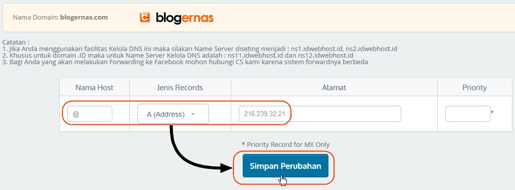 Cara Menghubungkan Domain Berbayar ke Blogspot