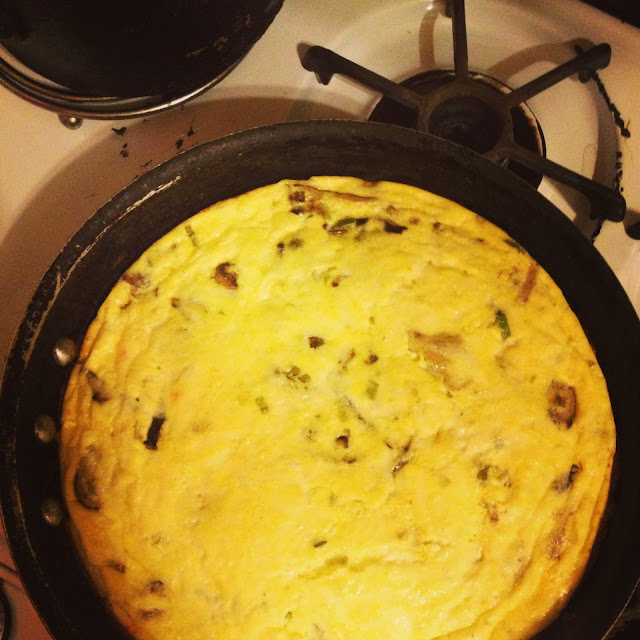 Eating Fabulously, Christopher Stewart, Mushroom Leek and Fontina Frittata Recipe