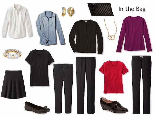 "10 items to pack, mostly black, to give you a ""Whatever's Clean 13"""