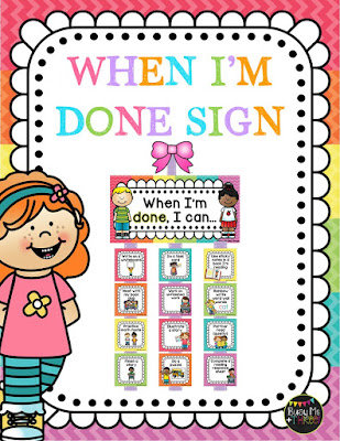 https://www.teacherspayteachers.com/Product/EDITABLE-When-I-am-Done-Sign-Early-Finishers-Classroom-Management-Chevron-1932285