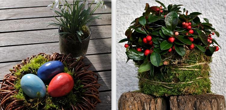 Gartendeko mit Naturmaterial