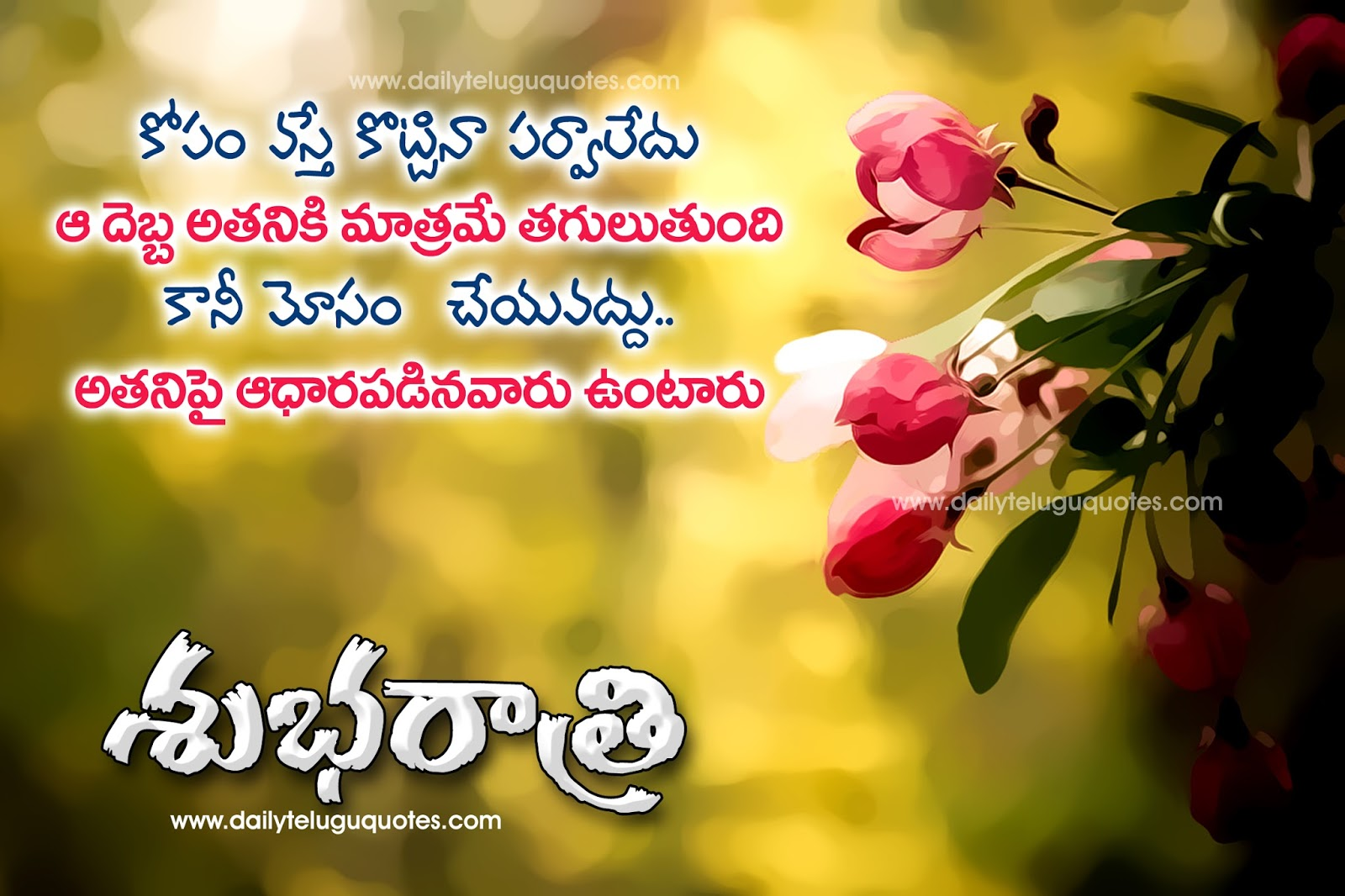 Heart touching telugu life quotes for good night greetings good night telugu quotes greetings wihes wallpapers images m4hsunfo