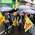 Professores protestam contra parcelamento salarial em Palmeira das Missões
