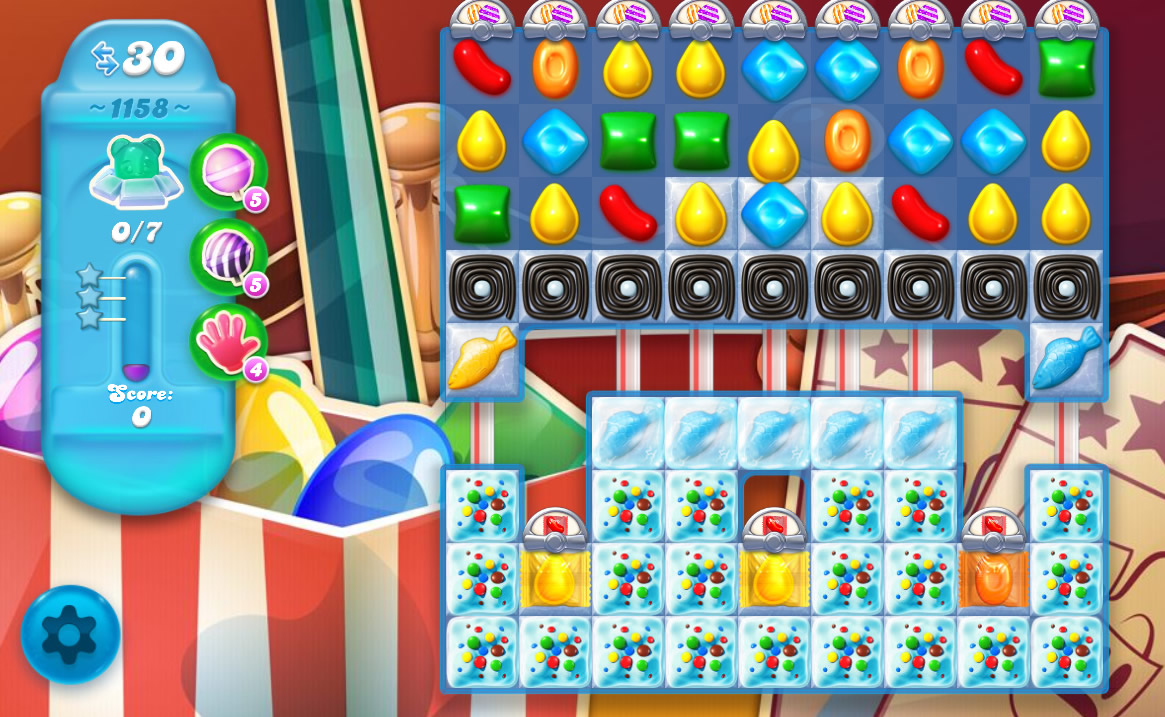 Candy Crush Soda Saga level 1158