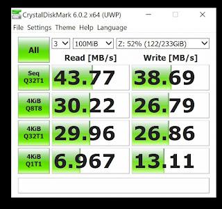 hasil test speed SSD External + OTG Type C Samsung S8 Original