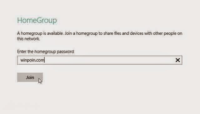 Cara Join HomeGroup di Windows 8 Melalui PC Setting dan Control Panel