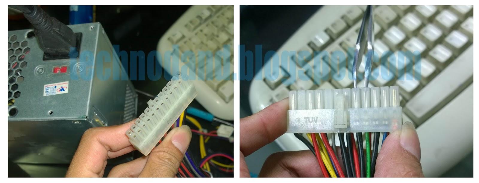 Cara Perbaikan Hardware Komputer Secara Umum Technodand Kabel Power Colokan Listrik Pln Ke Supply Seteleh Itu Konsletkan Yang 24 Pin Yaitu Warna Hitam Dan Hijau Dengan Menggunakan