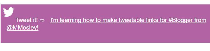 Twitter Widget blogger inside post