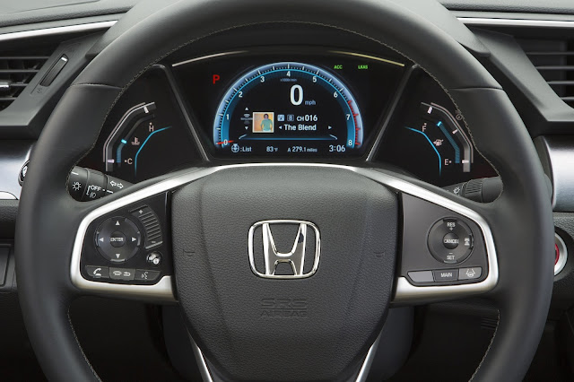 Instrument cluster of 2016 Honda Civic