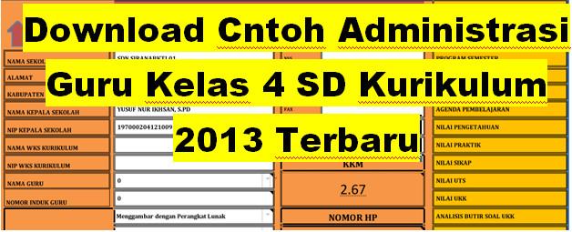 Download Contoh Administrasi Guru Kelas 4 Sd Kurikulum 2013 Terbaru Administrasi Guru