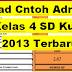 Download Contoh Administrasi Guru Kelas 4 SD Kurikulum 2013 Terbaru