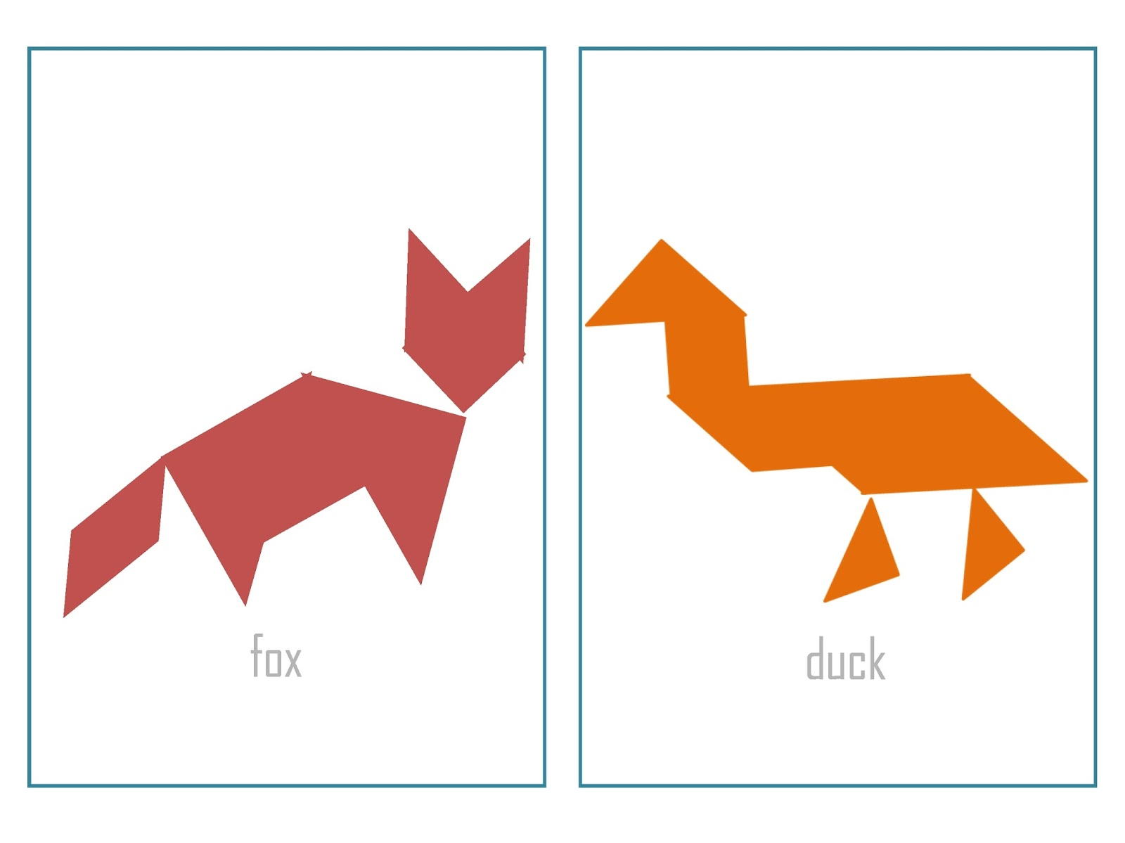 It is an image of Free Printable Tangram Puzzles intended for 2nd grade