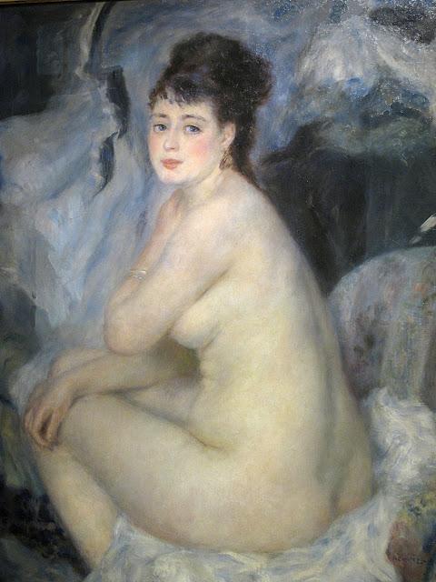 Pierre Auguste Renoir: Nudo seduto