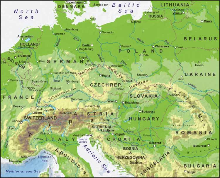 Amsterdam Karta Hotell.Karta Over Europa Politiska Regionen
