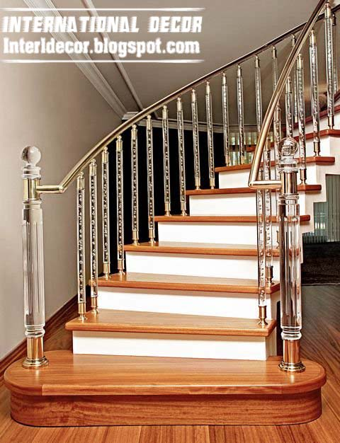 Crystal stair railings, handrails and crystal stair columns